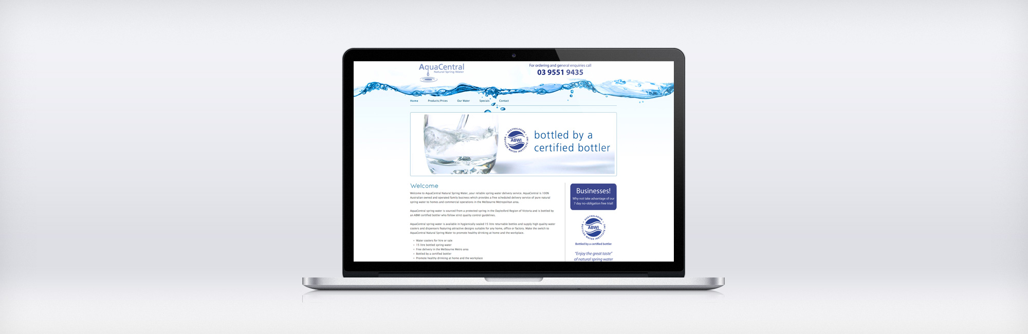 Website AquaCentral